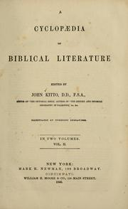 Cover of: Cyclopaedia of biblical literature