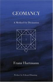 Cover of: Geomancy | Franz Hartmann