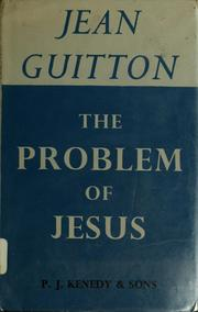 Cover of: The problem of Jesus