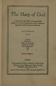 Cover of: The harp of God