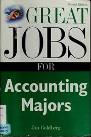 Cover of: Great Jobs for Accounting Majors | Jan Goldberg