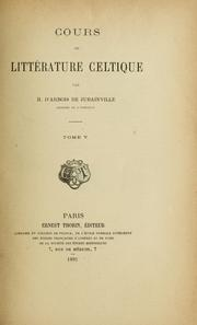 Cover of: L' épopée celtique en Irlande