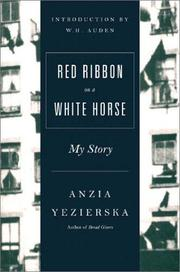 Cover of: Red Ribbon on a White Horse | Anzia Yezierska