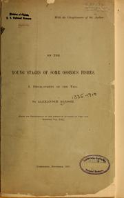 Cover of: On the young stages of some osseous fishes