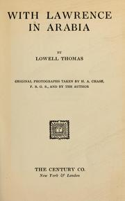 With Lawrence in Arabia by Thomas, Lowell