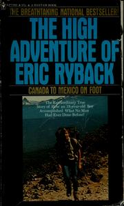 Cover of: The high adventure of Eric Ryback