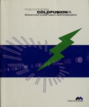 Cover of: Advanced ColdFusion administration