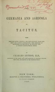 Cover of: The Germania and Agricola of Tacitus