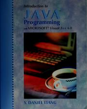Cover of: Introduction to Java programming with Microsoft Visual J++ 6