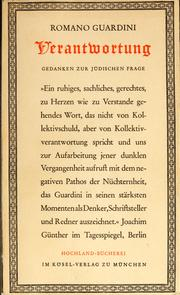 Cover of: Verantwortung | Romano Guardini