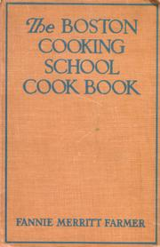 Boston Cooking-School cook book by Fannie Merritt Farmer