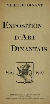 Exposition d'art dinantais, 1907 by Aug Tichon