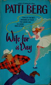 Cover of: Wife for a day