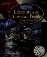 Literature of the American people by Mary J. Anderson