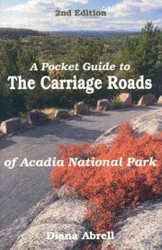 Cover of: pocket guide to the carriage roads of Acadia National Park | Diana F. Abrell