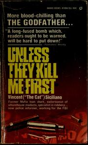 Cover of: Unless they kill me first