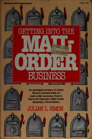 Cover of: Getting into the mail-order business
