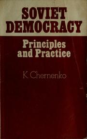Cover of: Soviet democracy