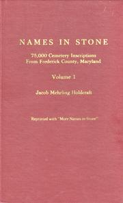 Names in stone by Jacob Mehrling Holdcraft