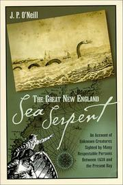 Cover of: The Great New England Sea Serpent | J. P. O