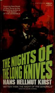 Cover of: The nights of the long knives