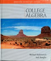 Cover of: College algebra | Richard N. Aufmann