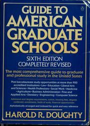 Guide to American graduate schools by Harold Doughty