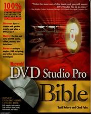 Cover of: Macworld DVD Studio Pro bible | Todd Kelsey