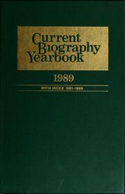 Cover of: Current biography yearbook, 1989 | Charles Moritz