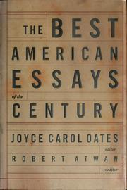 Cover of: The best American essays of the century