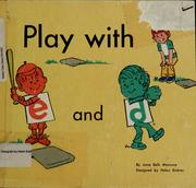 "Cover of: Play with ""e"" and ""d"""