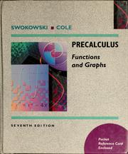 Cover of: Precalculus | Earl William Swokowski