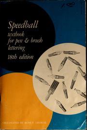 Speedball Textbook For Pen Brush Lettering 1965 Edition