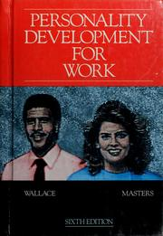 Cover of: Personality development for work | Harold R. Wallace