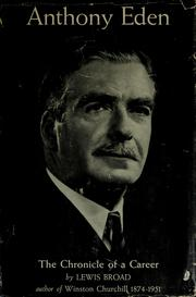 Cover of: Anthony Eden