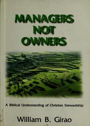 Cover of: Managers Not Owners | William B. Girao