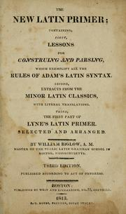 The new Latin primer by William Biglow