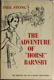 "Cover of: The adventure of ""Horse"" Barnsby"