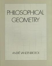 Cover of: Philosophical geometry
