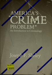"Cover of: America's ""crime problem"""