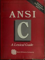 ANSI C by Mark Williams Company