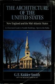 Cover of: The architecture of the United States