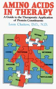 Cover of: Amino Acids in Therapy: A Guide to the Therapeutic Application of Protein Constituents