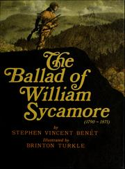 Cover of: The ballad of William Sycamore, 1790-1871