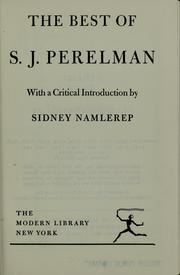 Cover of: The best of S.J. Perelman