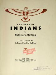Cover of: The book of Indians