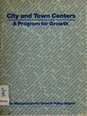 Cover of: City and town centers | Massachusetts. Office of State Planning.