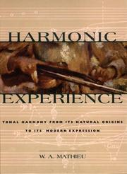 Cover of: Harmonic Experience | W. A. Mathieu