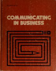 Cover of: Communicating in business | Richard A. Hatch
