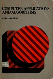 Cover of: Computer applications and algorithms